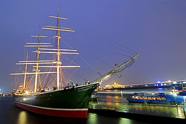 Museum ship Rickmer Rickmers at Hamburg harbour, Germany