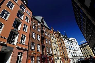 Historic houses at Cremon in Hamburg, Germany