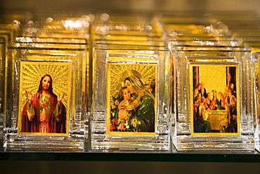 Icons depicting Christian images, Bethlehem, Israel