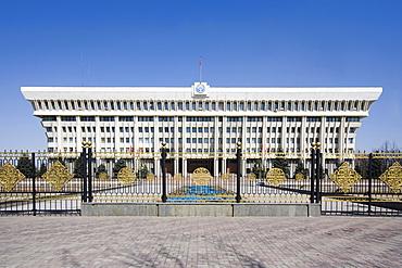 Presidential Palace called White House in Bishkek, Frunze, Kyrgyzstan