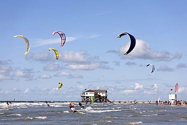 Kitesurfing Championships, St. Peter Ording, Eiderstedt, North Frisia, Schleswig Holstein, Northern Germany