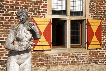 Raesfeld Moated Castle, 17th century, Raesfeld, Muensterland, North Rhine-Westphalia, Germany, Europe