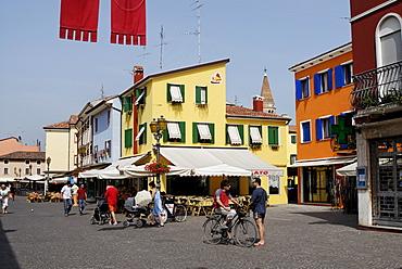 Picturesque town centre, Caorle, Adriatic region, Veneto, Italy