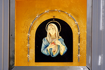 Miraculous image of the Virgin Mary, Madonna delle Lacrime Church, pilgrimage site in Syracuse, Sicily, Italy