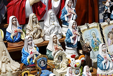 Souvenir shop, Madonna delle Lacrime Church, pilgrimage site in Syracuse, Sicily, Italy