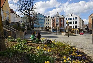 Market Square, Regen, Bavarian Forest, Lower Bavaria, Germany, Europe