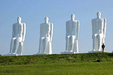 Group of Sculptures at Esbjerg beach, Denmark, Europe