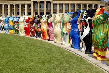 UNITED BUDDY BEARS, Bear Parade in the Schlossplatz Square, Stuttgart 2008, Stuttgart, Baden-Wuerttemberg, Germany, Europe