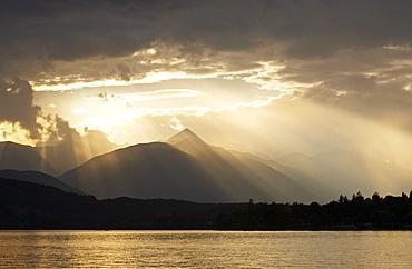 Stormy atmosphere at Lake Millstatt, Carinthia, Austria