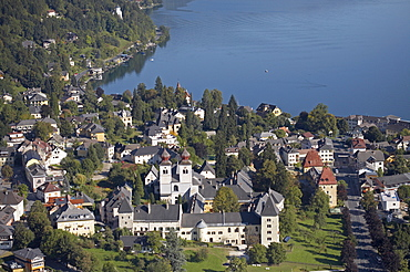 Millstatt seen from the air, Carinthia, Austria