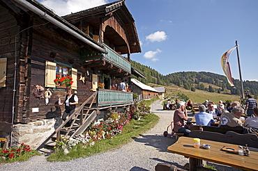 Alpine hut, Nockberge, Carinthia, Austria