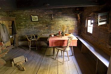 Farmhouse parlor, Maria Saal open air museum, Carinthia, Austria