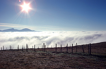 Sea of fog, Rosennock, Nockberge Mountains, Carinthia, Austria