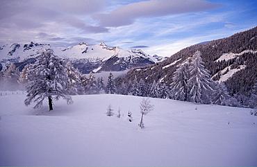 Snowy winter landscape, Maltaberg, Hohe Tauern, Carinthia, Austria