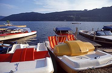 Boats at Lake Millstatt, Millstatt, Carinthia, Austria, Europe