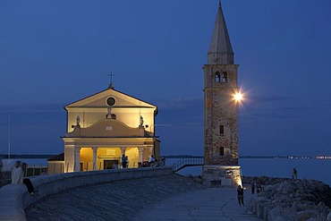 Madonna dell Angelo Church in the evening, Caorle, Adria, Italy, Europe