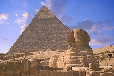 The Sphinx and Pyramid, Cairo, Egypt, Africa