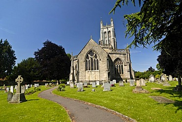 Church of All Saints, Wrington, Somerset, England, Great Britain, Europe