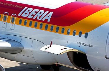 Iberia airplane at Tegel airport, Berlin, Germany, Europe