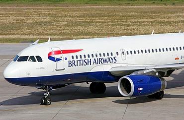British Airways airplane at Tegel airport, Berlin, Germany, Europe