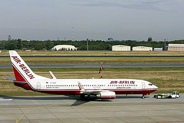 Air Berlin airplane at Tegel airport, Berlin, Germany, Europe