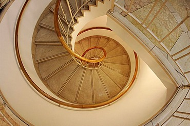 Spiral staircase in the WestIn Grand Hotel in Berlin, Germany, Europe