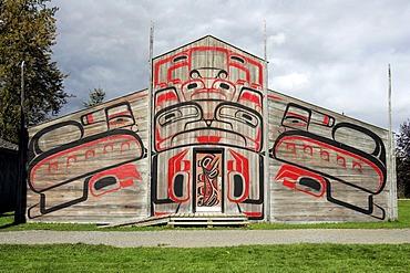 Long house at Ksan Historical Village, British Columbia, Canada