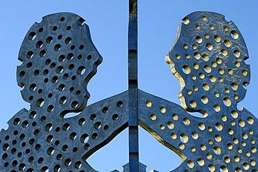 Sculpture Molecule Man in Berlin, Germany