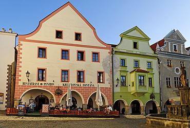 Historic centre of Cesky Krumlov, Krumau, Unesco World Heritage Site, South Bohemia, Czech Republic, Czechia, Europe