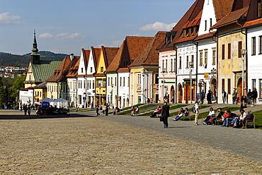 Town square of Bardejov, UNESCO World Heritage Site, Slowakia, Slovakia, Europe