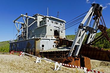 Historical dredge, Dredge Nr. 4, Dawson City, Yukon Territory, Canada