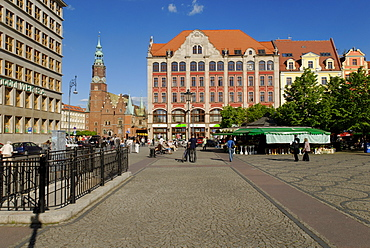 Plac Solny market square by Wroclaw market square, Wroclaw, Silesia, Poland, Europe