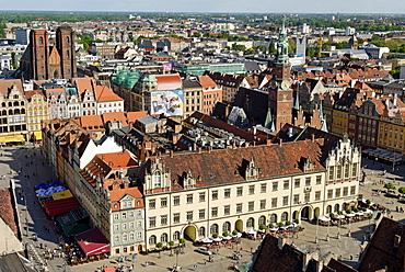View over Wroclaw, Silesia, Poland, Europe
