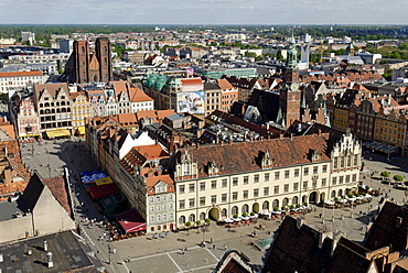 Panorama of Wroclaw, Silesia, Poland, Europe