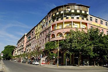 Street scene in Tirana, Albania, Europe