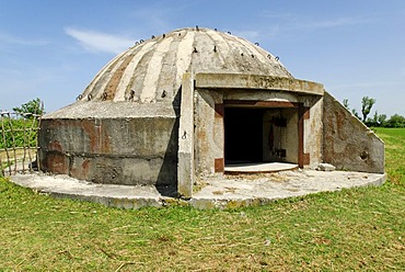 Typical Albanian bunker, a remainder of communist times, Albania, Europe