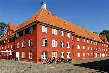 Historic barracks on the fortified island of Kastellet, Copenhagen, Denmark, Scandinavia, Europe