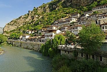 Historic centre of Berat on the Osum River, UNESCO World Heritage Site, Albania, the Balkans, Europe