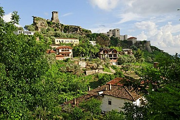 Citadel and castle in the Skanderbeg city of Kruje, Kruja, Albania, the Balkans, Europe