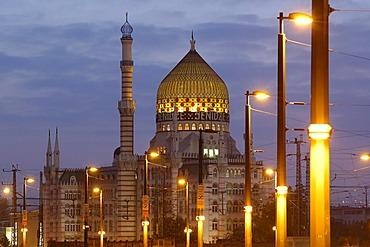 Yenidze (tobacco mosque), formerly factory of cigarettes Marien bridge Dresden Saxony Germany
