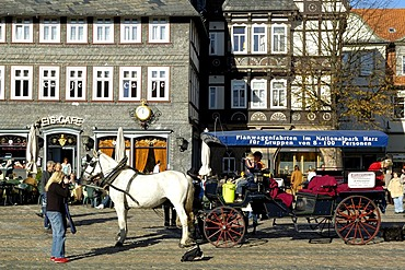 UNESCO Word Heritage Site carriage at market Goslar Lower Saxony Germany