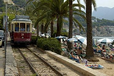 Tram, Port de Soller, Soller, Majorca, Spain