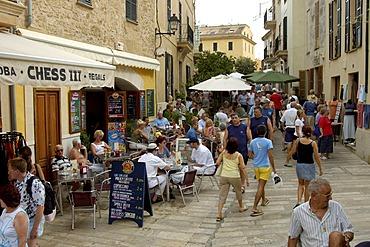 Street cafe, Alcudia, Majorca, Spain