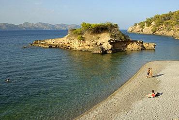 Little island, Pollenca Bay, Alcudia, Majorca, Balearic Islands, Spain