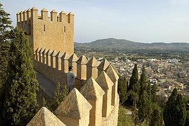 View from castle, Arta, Majorca, Balearic Islands, Spain