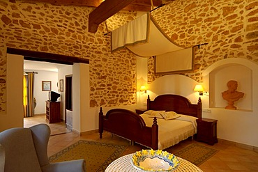 Room, country hotel, finca, Es Puig de Ros d'Alt, Majorca, Balearic Islands, Spain