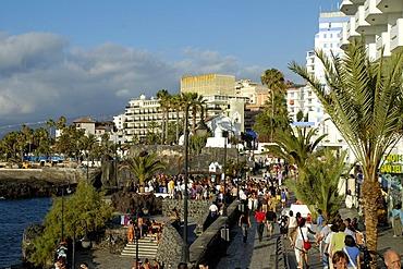 Esplanande at the Lido de San Telmo, Puerto de la Cruz, Tenerife, Canary Islands, Spain
