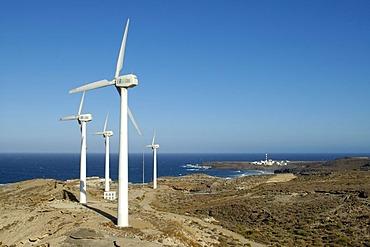 Wind turbines, Tenerife, Canary Islands, Spain