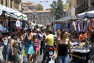 Fera o Luni market, Piazza Carlo Alberto, Catania, Sicily, Italy