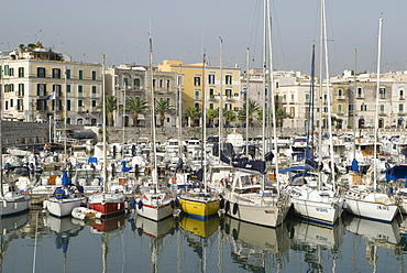 Boats in the port, Trani, Apulia, Southern Italy, Italy, Europe